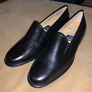 Selby black leather flats